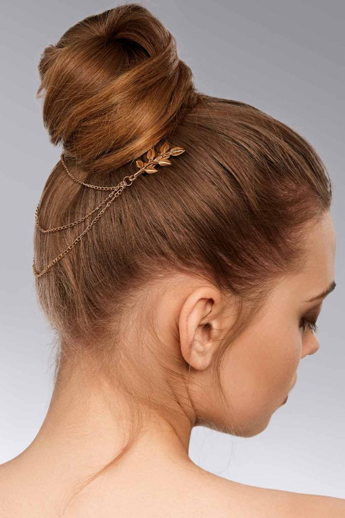 Hair Bun With Accessory