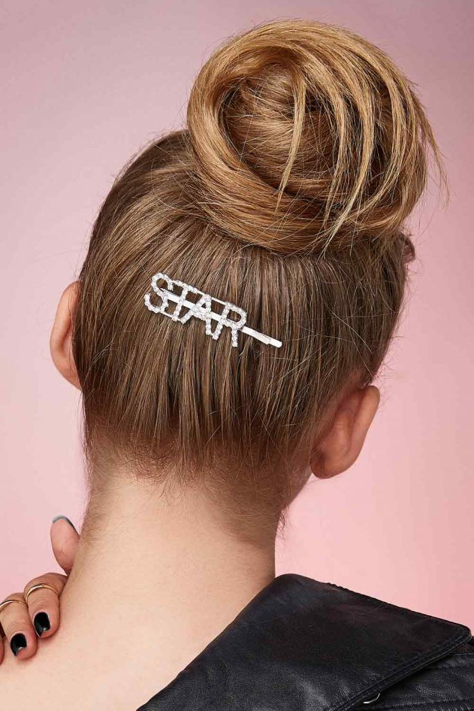 Cool Hairstyle with Hair Clip