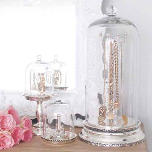 Jewelry Cloches Organizer Idea #jars #jewelrycloches