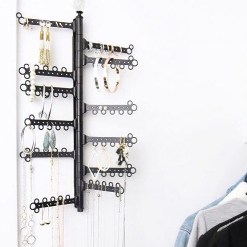 Wall Plastic Jewelry Organizer #hanging #earringsholder