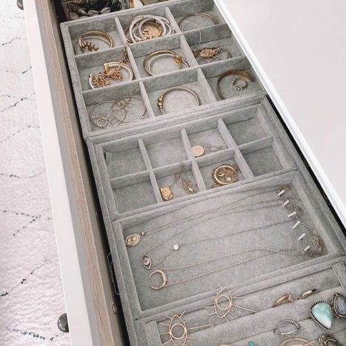 Jewelry Tray Organizer #drawers #jewelrytray