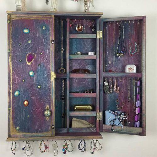 Jewelry Cabinet Design #jewelrycabinet #wallorganizer