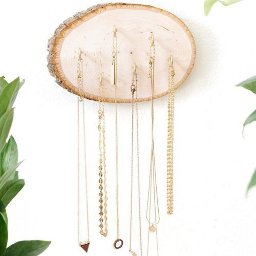 Wood Wall Jewelry Hanging #walljewelryhanging