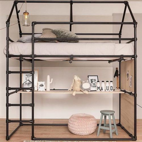 Industrial Loft Bed For Kids Bedroom #industrialbed #restspace
