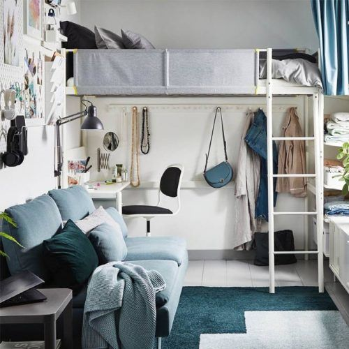 Loft Bed For Small Room Space #clothesorganizer #desk