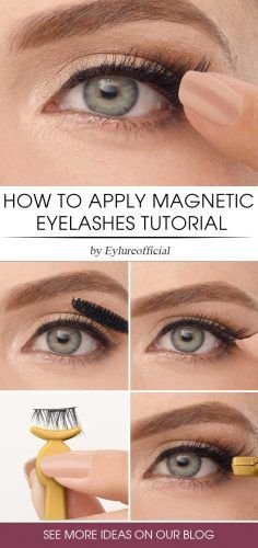 How To Apply Magnetic Eyelashes Tutorial #tutorial #makeuptips