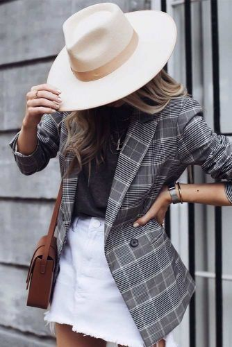 Fedora Hat #fedorahat #plaidjacket