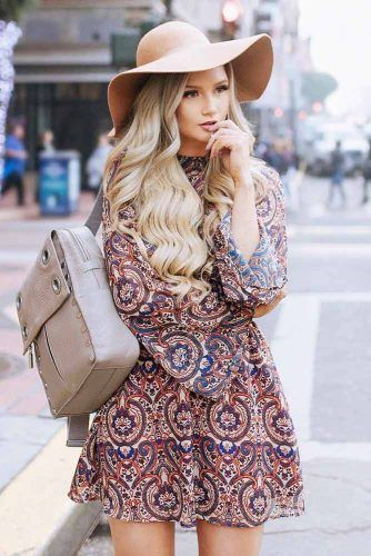 Floppy Hat Type #printdress