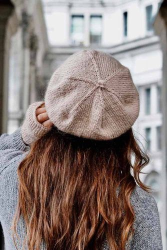 Cozy Knitted Beret #knittedhat