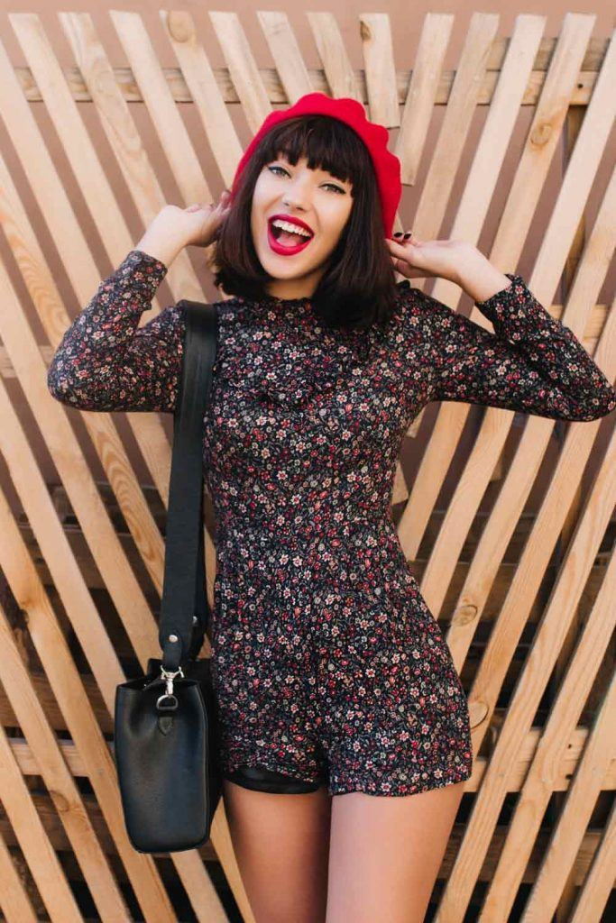 Red Beret with Jumpsuit