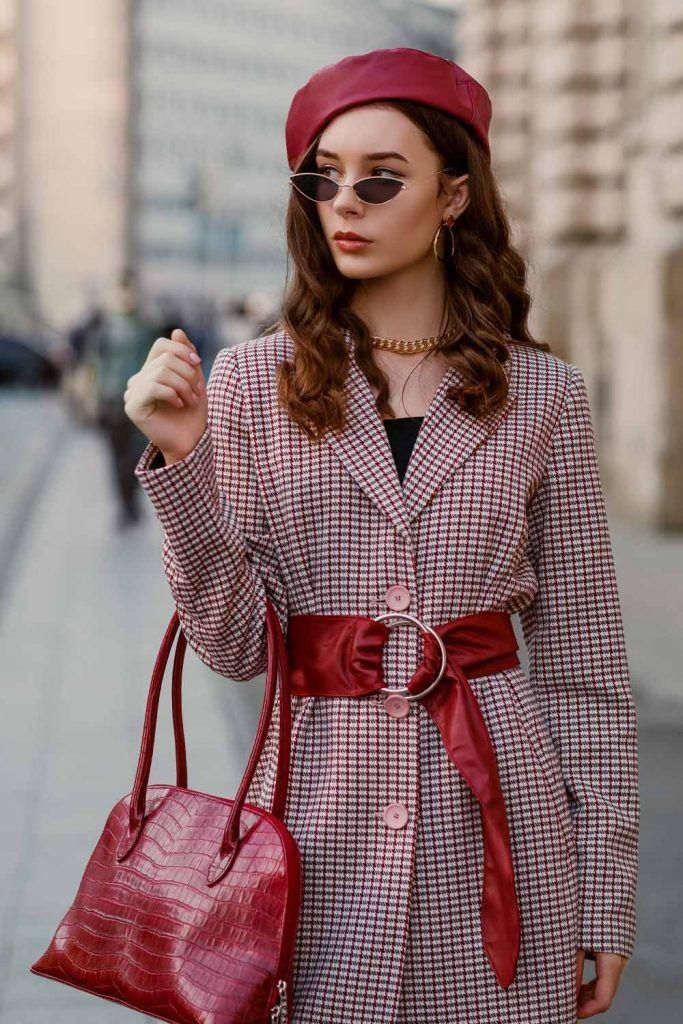 Elegant Look with Beret and Coat