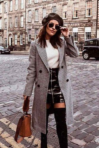 Brave Look With Leather Skirt #leatherskirt #falloutfit
