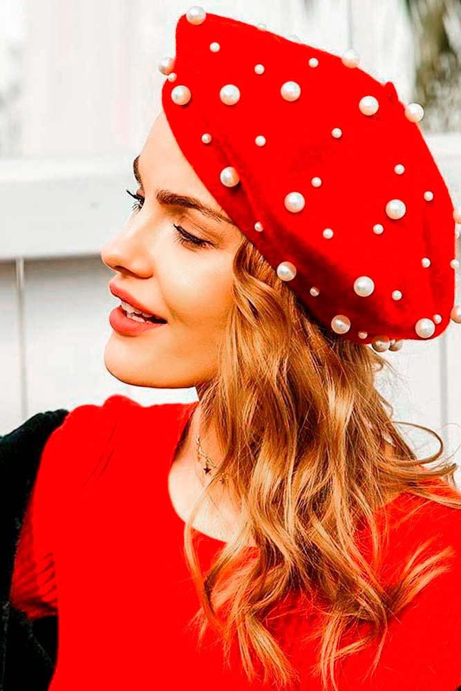 Glam Berets #redhat #glamlook
