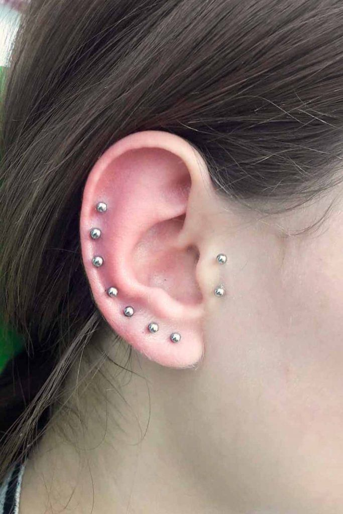 Match Barbells Piercing #stylishlook #coolpiercing