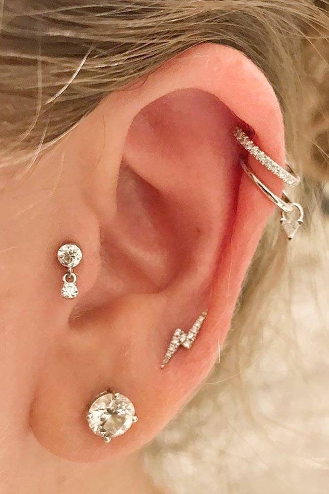 Dangle Tragus Piercing Ring #danglering #danglepiercing