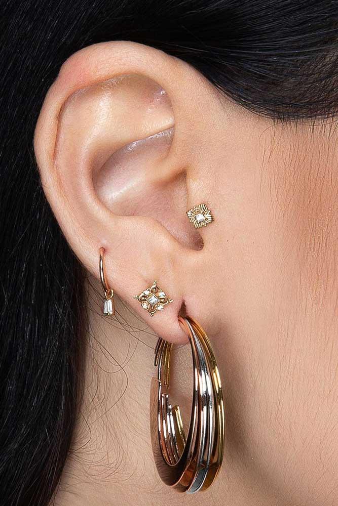 Elegant Tragus Piercing Jewelry #piercingjewelry #jewelry