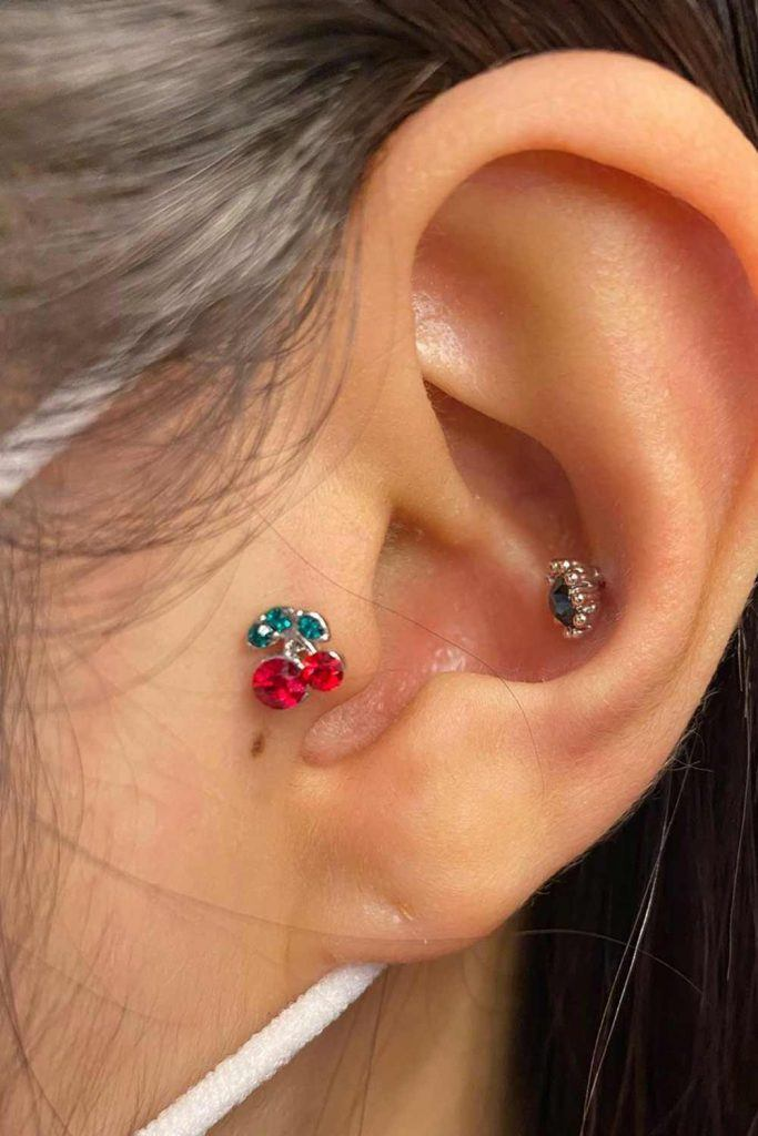 Cherry Jewelry Piercing #cherryearrings #brightjewelry