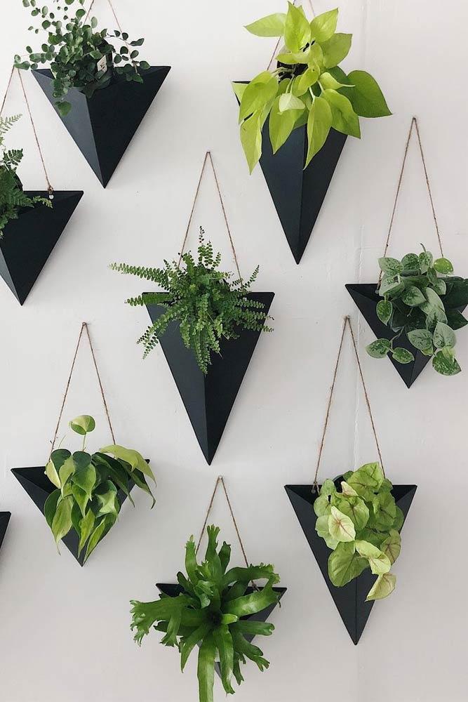Black Wall Sconces For Your Plants #wallsconces #smallpots
