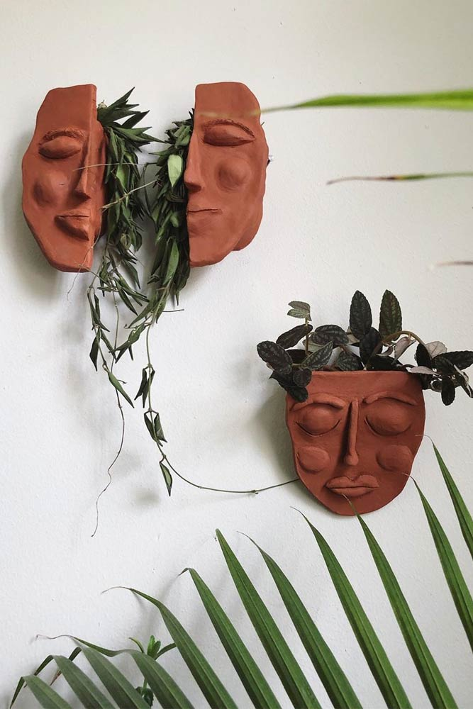 Face Wall Planters #faceplanters