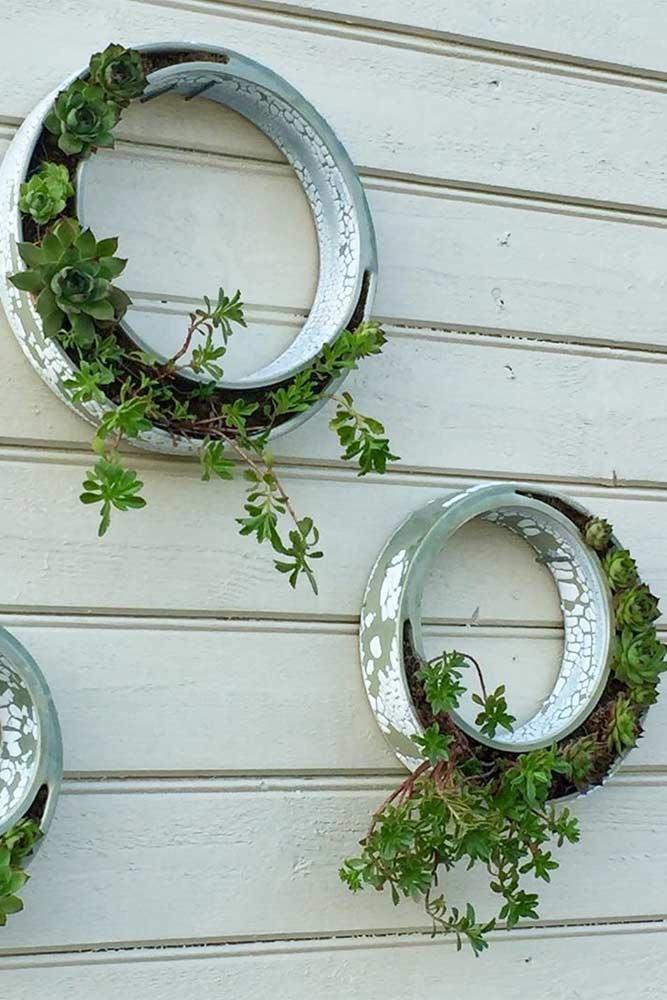 Ceramics Wall Rings Plants Pots #ceramicpots #outdoorpots