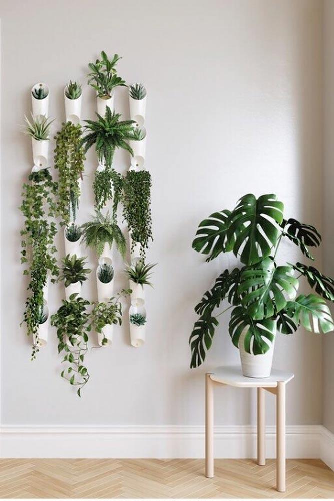 Vertical White Planters #verticalplanters