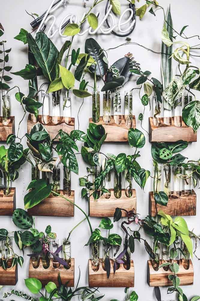 Wooden Holder For Vertical Plants #vases #woodenholders