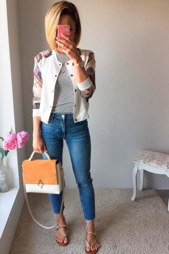 Bomber Jacket With Jeans