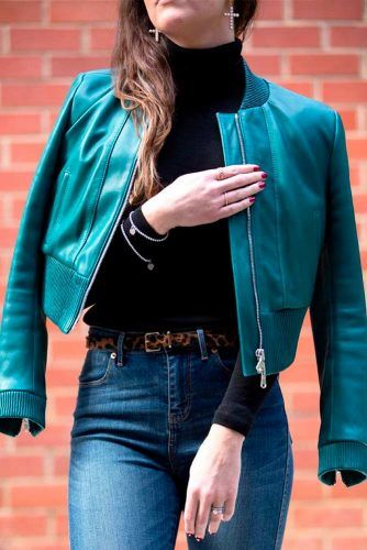 Leather Bomber Jacket #leatherjacket