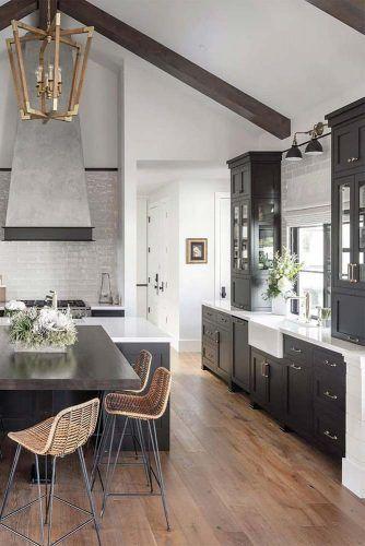 Black And White Design Idea #wickerchairs
