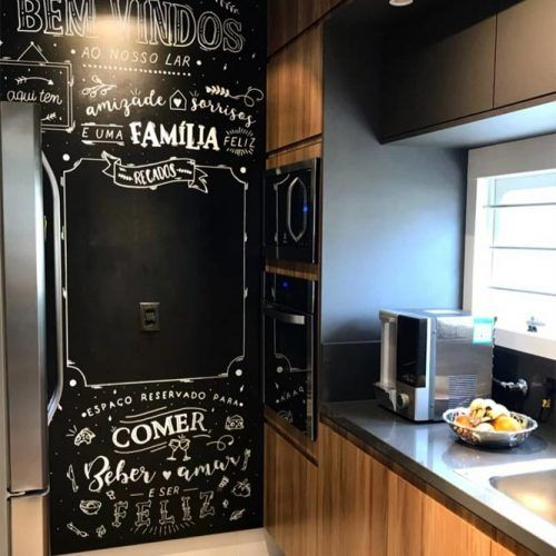 Add A Chalkboard Into Your Kitchen Space #chalkboardwall #walldecor