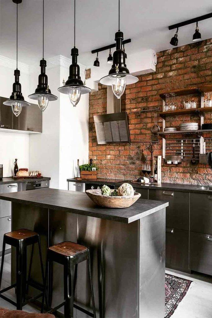 Kitchen Design In Industrial Style #industrialstyle