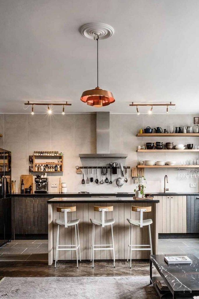 Big Kitchen Space With Retro Stools #retrostools