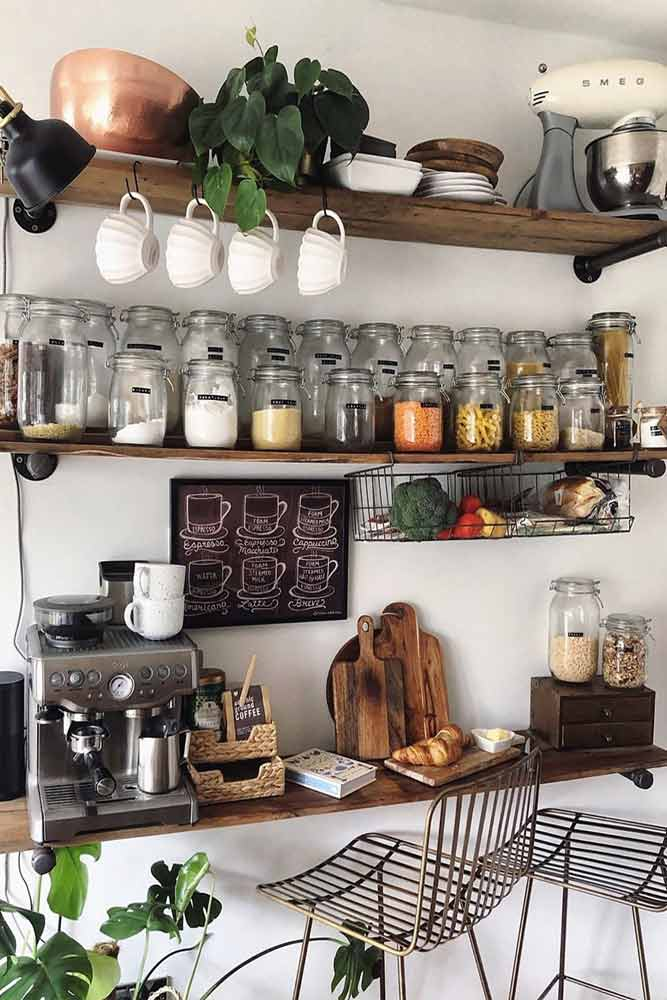 Shelves Space Organization #shelves #jarsorganization