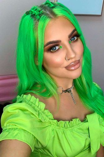 Electric Lizard #greenhair #neonhair