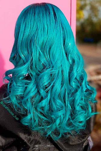 Mermaid #greenhair #bluehair #mermaidhair