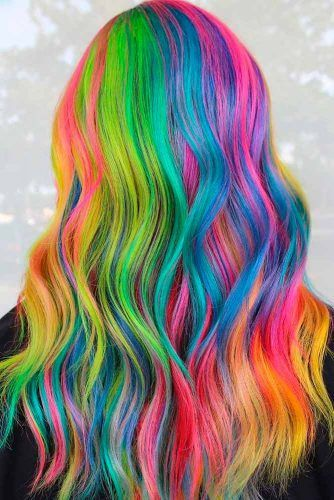 Colorful Hair With Manic Panic Colors #rainbowhair