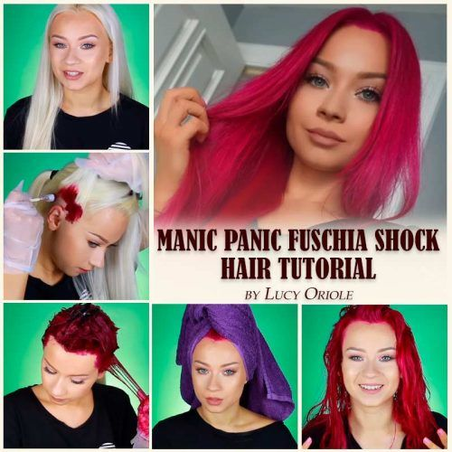 Manic Panic Fuschia Shock Hair Tutorial #hairtutorial