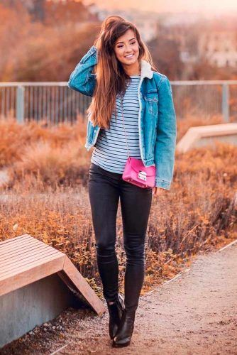 Fall Denim Jacket #denimjacket