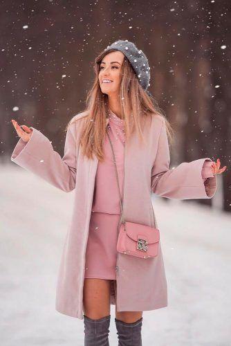 Pink Overcoat #overcoat