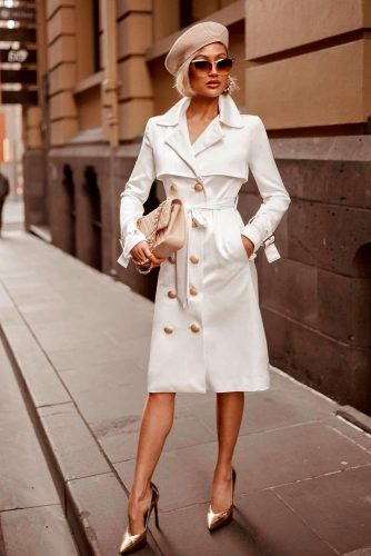 White Trench Coat #trench #trenchcoat