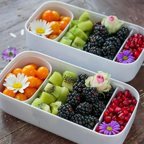 Fruit Lunch Box Idea #fruits #berries