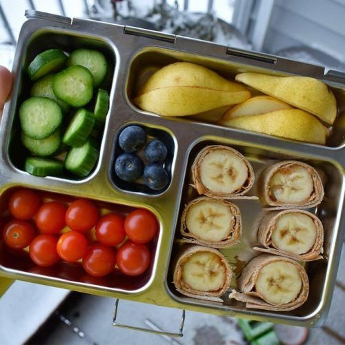 Vegan Lunch Box #banana #pears