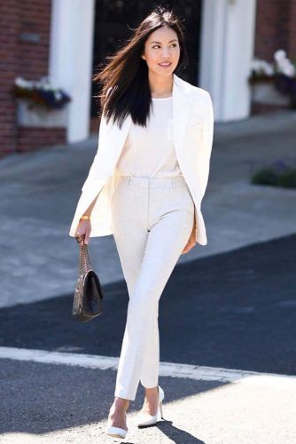 White Power Suit Outfit #powersuit