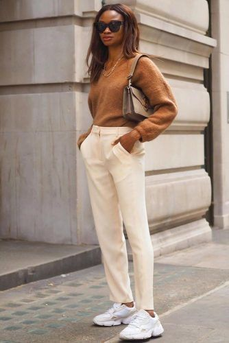 Comfy Sweater With Pants Outfit Busines Attire #sweater #pants