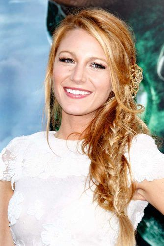 Blake Lively's Brighter Copper With Blonde Highlights #blakelively