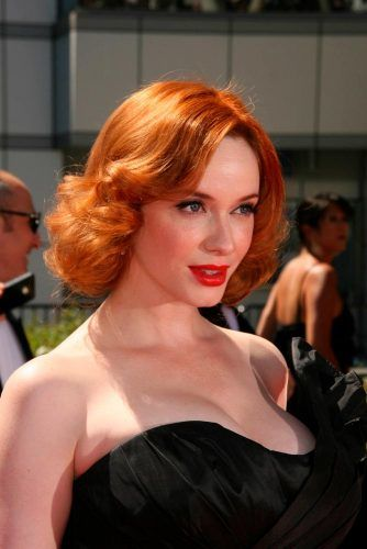 Christina Hendricks's Fiery Copper #christinahendricks