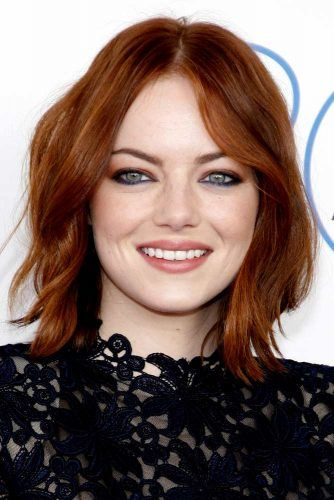 Emma Stone's Dark Copper Hair #emmastone