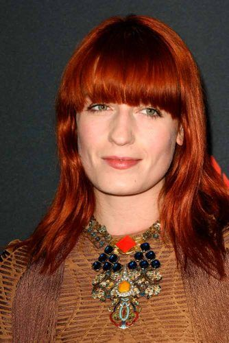 Florence Welch's Bright Red Copper #florencewelch