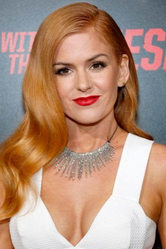 Isla Fisher's Long Hair With Light Copper Shade #islafisher