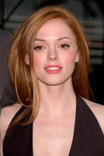 Natural Light Brown Copper Shade Of Rose McGowan #rosemcgowan